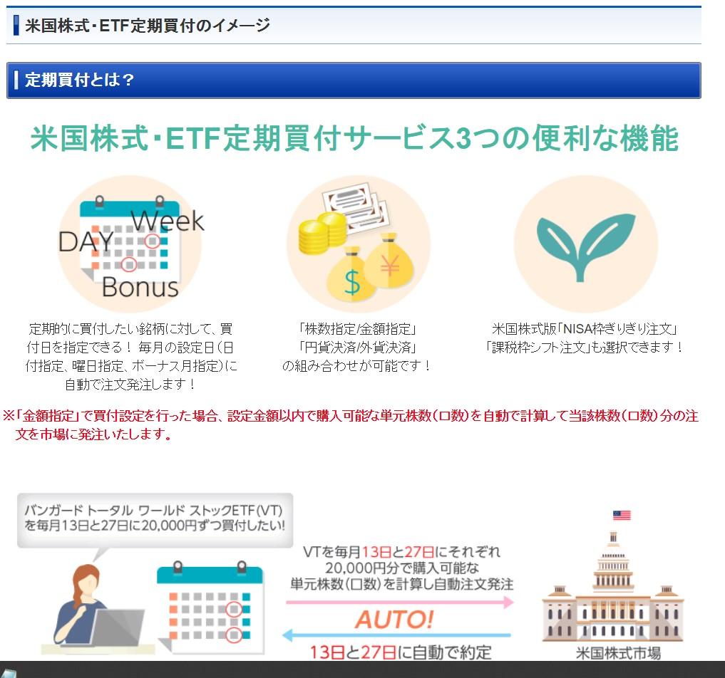 米国株式・ETF定期買付サービス2