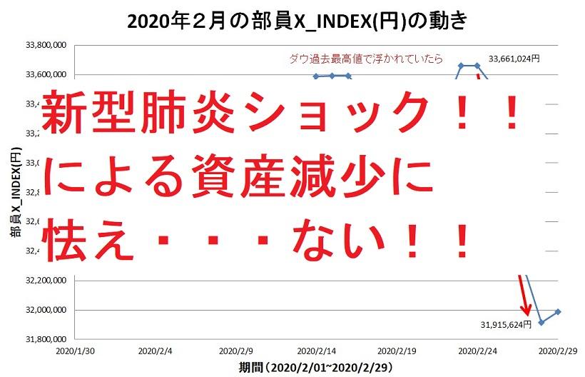 新型肺炎ショック!!による資産減少に怯え・・・ない!!