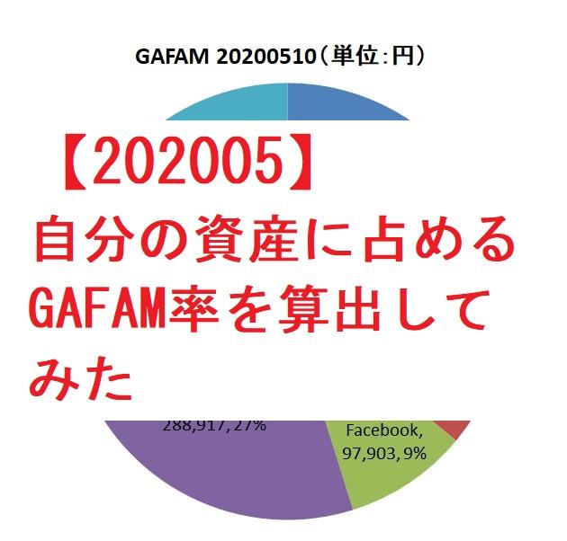 【202005】アセットアロケーション&GAFAM比率算出