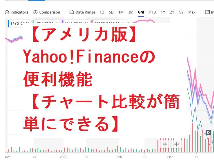 【アメリカ版】Yahoo!Financeの便利機能【チャート比較が簡単にできる】