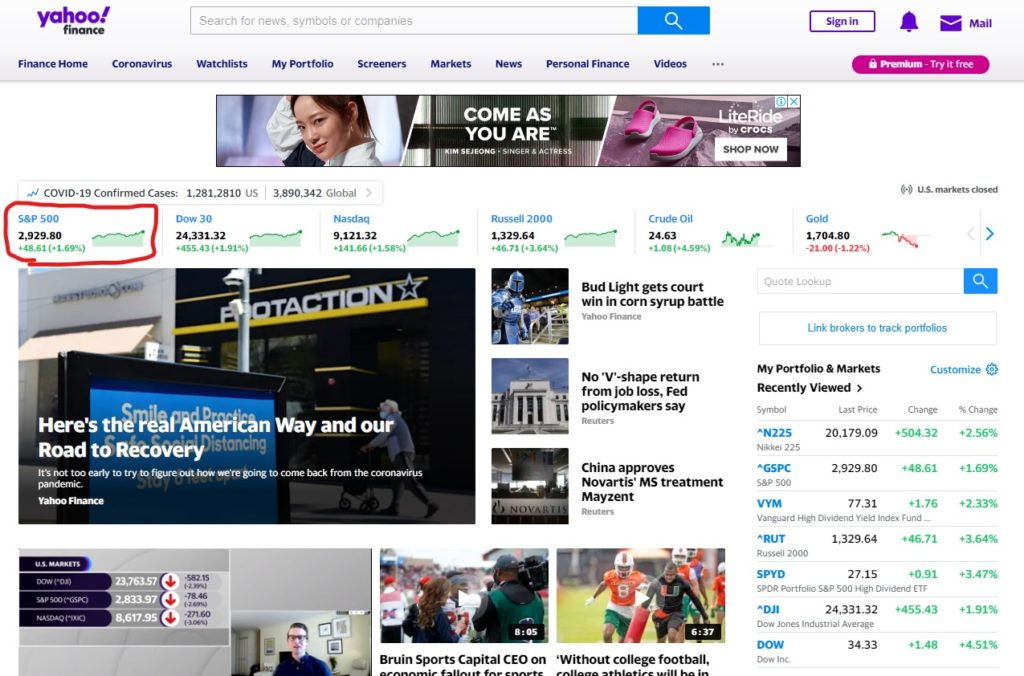 アメリカYahoo!Finance3