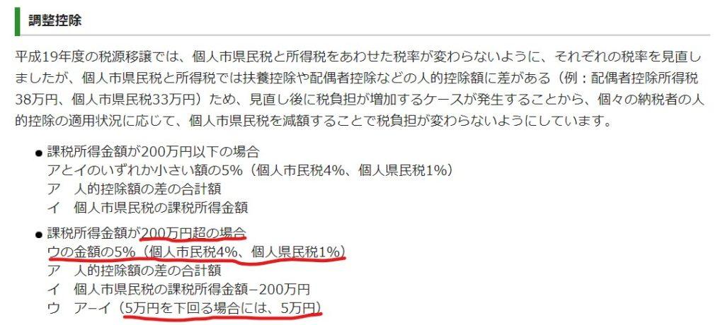 住民税の計算 仙台市5