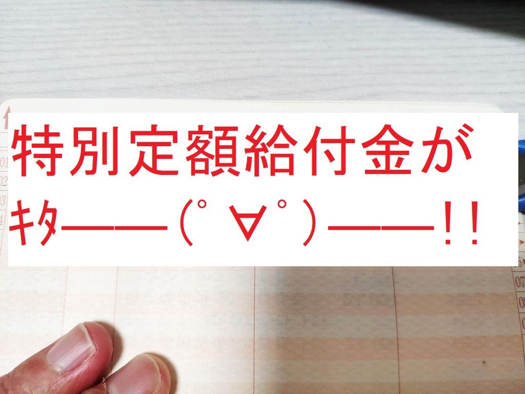 特別定額給付金がキタ――(゚∀゚)――!!
