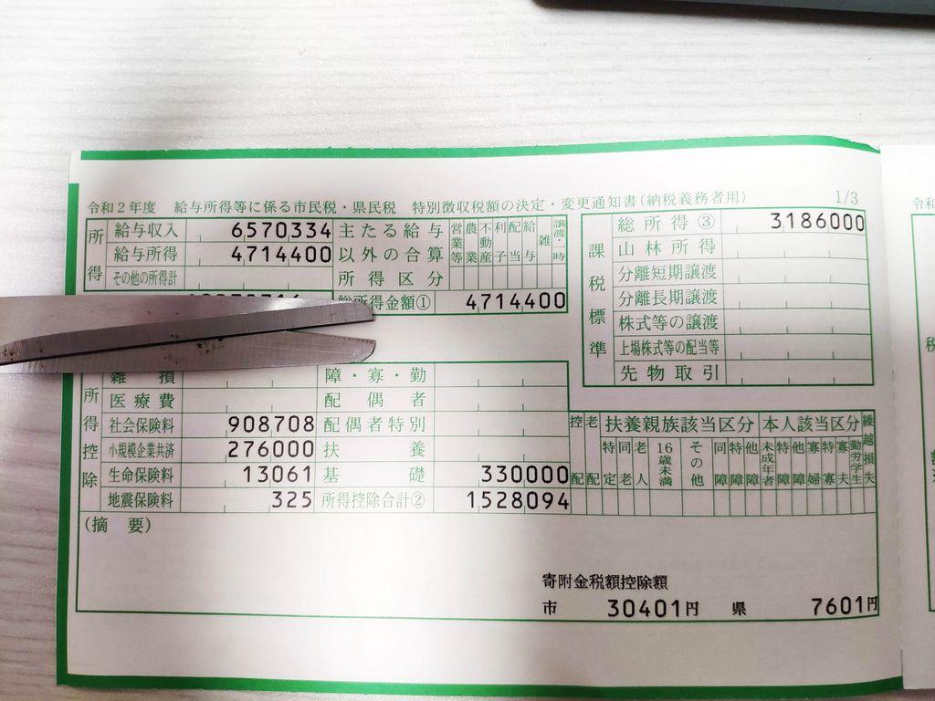 住民税の計算 仙台市1
