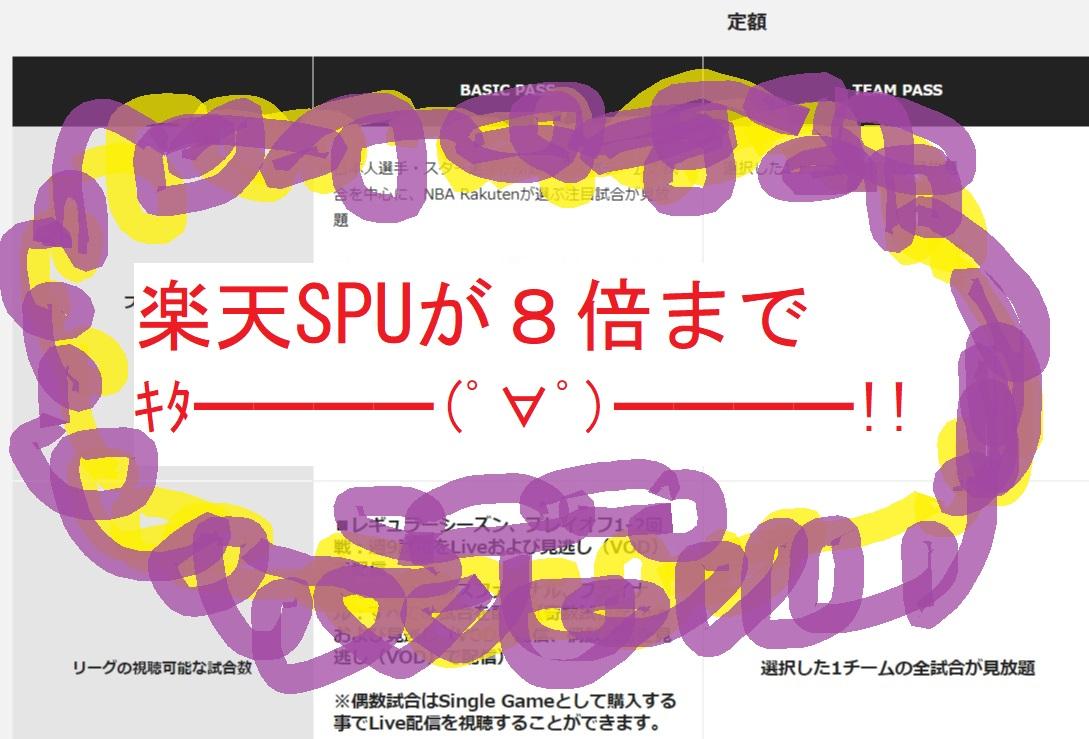 楽天SPUが8倍までキタ━━━━(゚∀゚)━━━━!!